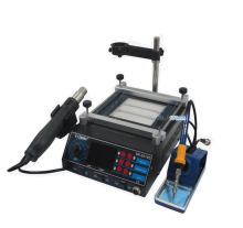 Rework Station SAIKE 8310D 220v or 110v soldering station hot air station+soldering iron+Preheat station 3 in 1 arrival saike 952d rework station hot air gun soldering station 220v or 110v