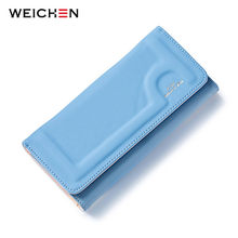 WEICHEN Soft PU Leather Fashion Women Wallets.Phone Coin Card Pocket Purse Clutch Handbags Carteiras Lady Wristlet Bags(China)