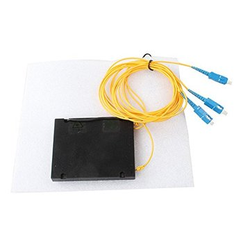 YTTEK 1x2 divisor de fibra PLC, módulo ABS de empalme/cola de cerdo, 2,0mm, SC/UPC