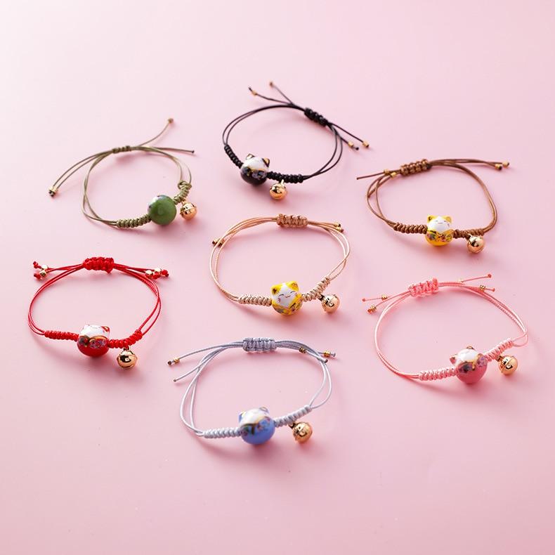 handmade lucky cat fashion bracelet gift chain 6