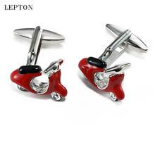 Модные запонки lepton в мотоциклетном стиле высококачественные