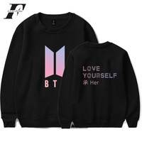 LUCKYFRIDAYF Love Yourself Capless Women Hoodies Sweatshirts Bangtan Hip Hop Sweatshirt Women Hoodies Album DNA Kpop