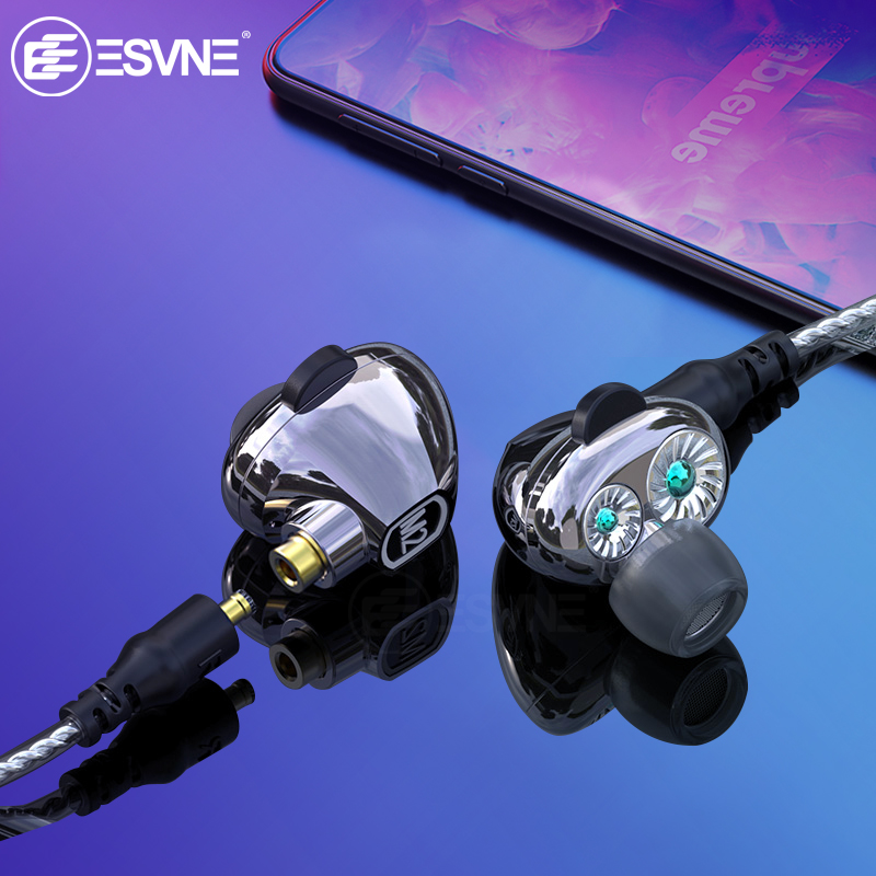 M2 Dual Dynamic Driver HiFi Earphone 2-in-1 Wireless Bluetooth Headphones + Wired Earphones with Mic 2 Detachable Cables Earbu