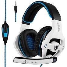 Fone de ouvido SA810 Over-Ear Stereo Headset Gaming com Mic Graves Controle de Volume para a Mais Recente Versão do Xbox um Jogo PS4 PC Laptop