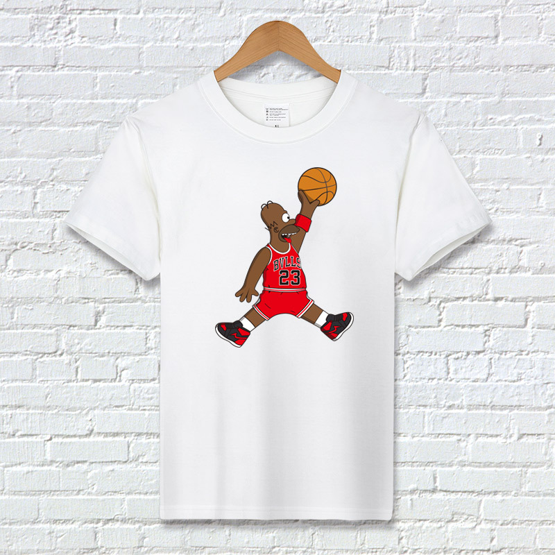 86c7501ea97f T-shirt fashion tops 23 Homer Michael Jordan T-shirt streetwear- Unisex 6  Colors