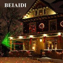 BEIAIDI Christmas Outdoor Laser Projector Star Spotlight Garden Landscape Light DJ Disco Stage Lamps R&G Garden Lawn Light