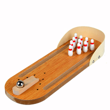 Mini hand finger Bowling game toy parent-child interaction game toy Children and adults Entertainment Toys wooden toy Brinquedos(China)