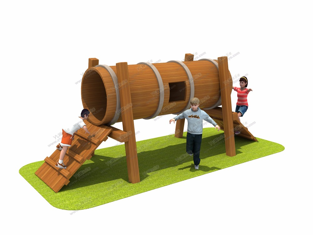 Antirot Kindergarten School Wooden Playground Equipment Ce