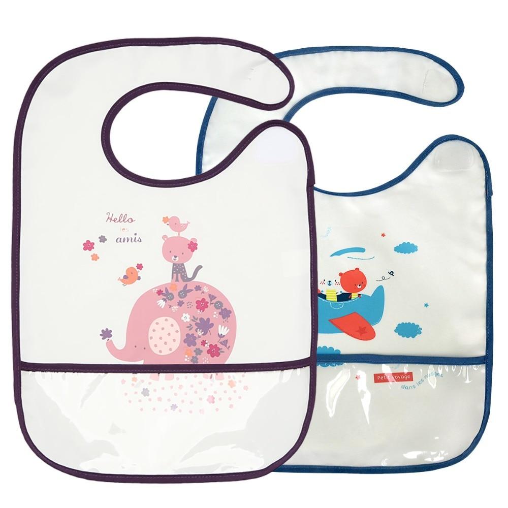 LionBear Baby Bibs Eva Waterproof Easy Clean Cute Cartoon Feeding Burp Cloths Infants 3-24 Months Saliva Bavoir Print Apron