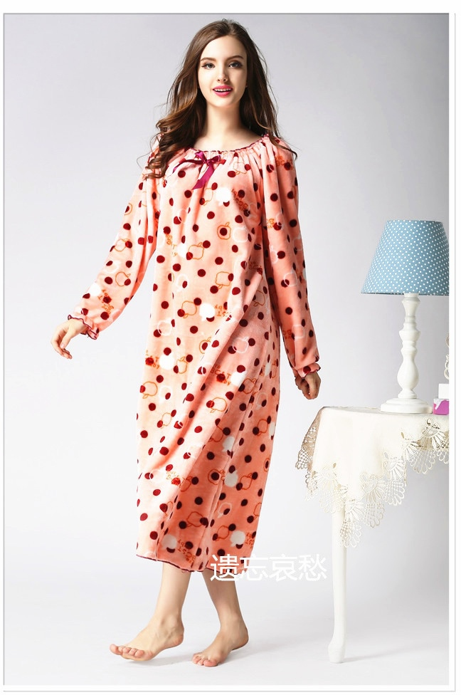 Princess Women Maternity Coral Fleece nightgowns Thickening Pijama ...