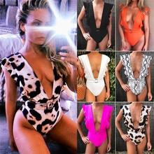 One Piece Swimsuit Women Push Up Bikini Bandage Swimwear Sexy Bra Beachwear Swimming Suit For