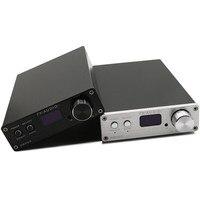 FX-Audio D802C беспроводной Bluetooth USB/AUX/оптический/коаксиальный чистый цифровой аудио усилитель OLED 24Bit/192 кГц 80Wx2 пульт дистанционного управления