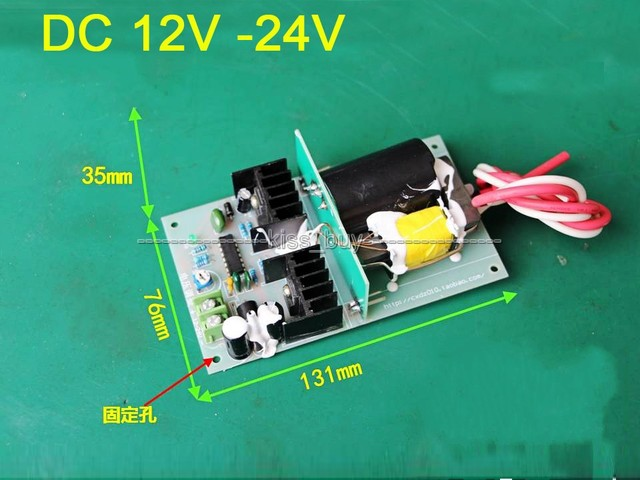 35 W DC 12 v ~ 24 v a Boost Step-up Power Module de 10kv de Alta Tensión 1kV negativo ion