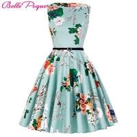 Women Summer Dress Floral Patterns 2018 Womens Clothing Audrey Hepburn Robe Retro Swing Casual 50s Vintage Rockabilly Dresses