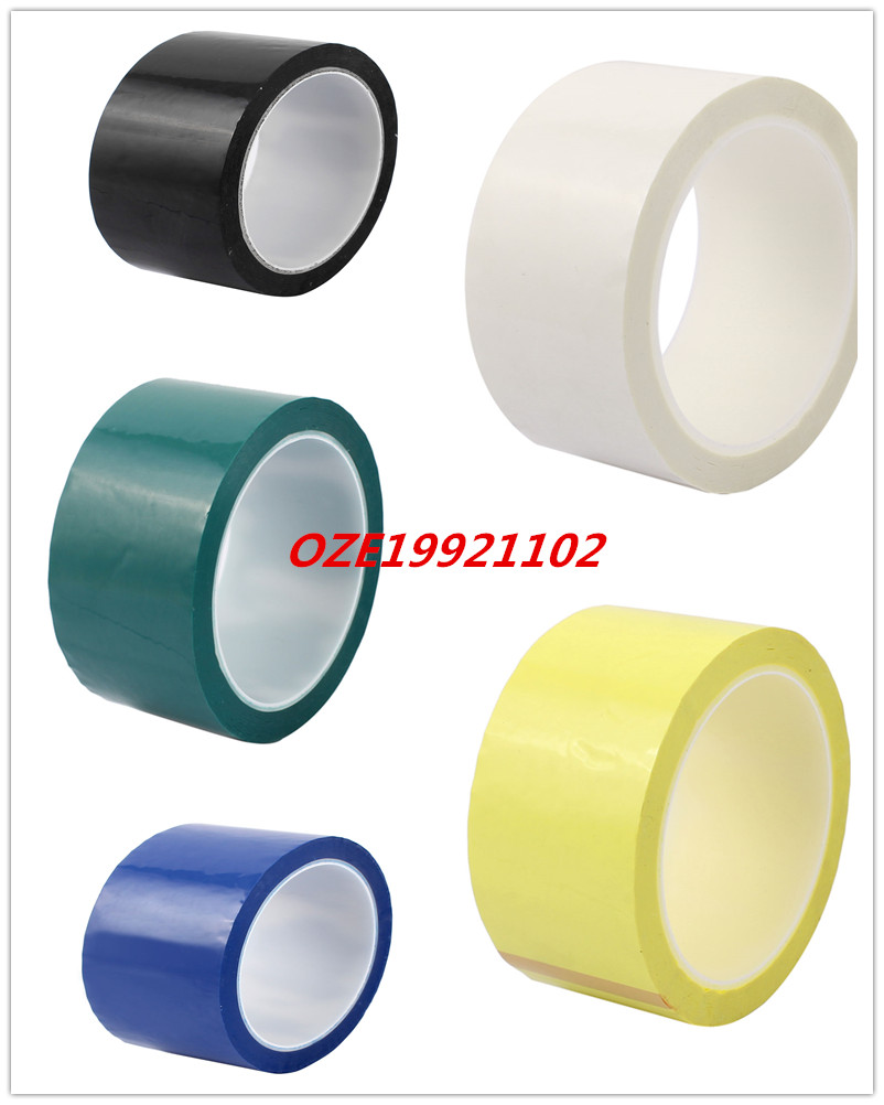 1PCS 50mm Single Sided Strong Self Adhesive Mylar Tape 50M Length Retardant 1pcs single sided self adhesive shockproof sponge foam tape 2m length 6mm x 80mm