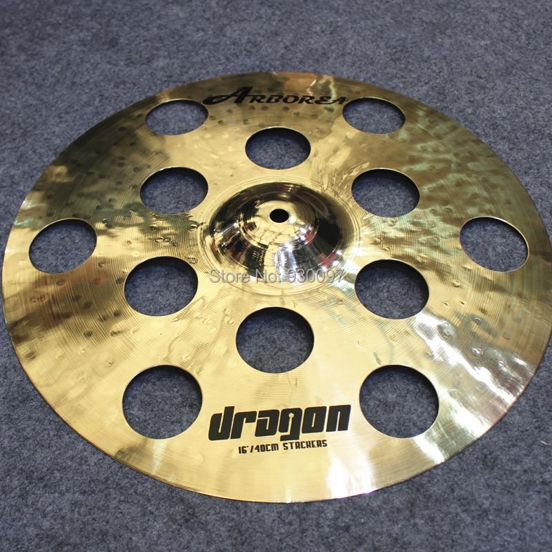 12 air hole effect cymbal,DRAGON16  O-ZONE cymbal handmade b20 cymbal dragon 16 o zone cymbal