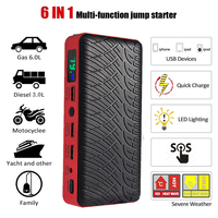 JKCOVER 26000mAh Car Battery Jump Starter Power Bank 600A Emergency Starting Device 12V Multi Function Charger
