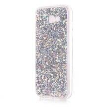Коке капа фун для samsung galaxy a7 (2017) case изменение цвета сверкающие блестки акриловые тпу телефон case-5.7 дюймов