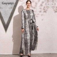 Autumn Elegant Dress Women Long Sleeve O Neck Print Dress Bodycon Party Vestidos Female 2018 Dresses Ankle Length