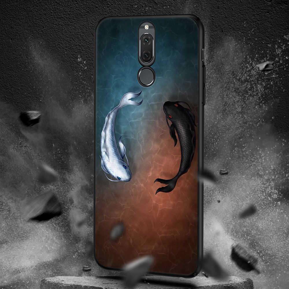 For Huawei P20 Lite Pro Mate 10 P10 P9 P8 Lite 2017 Enjoy 8 Plus Y9 2018 Nova 3e 2i For Honor 9 8 Lite Black Matte Cases Cover