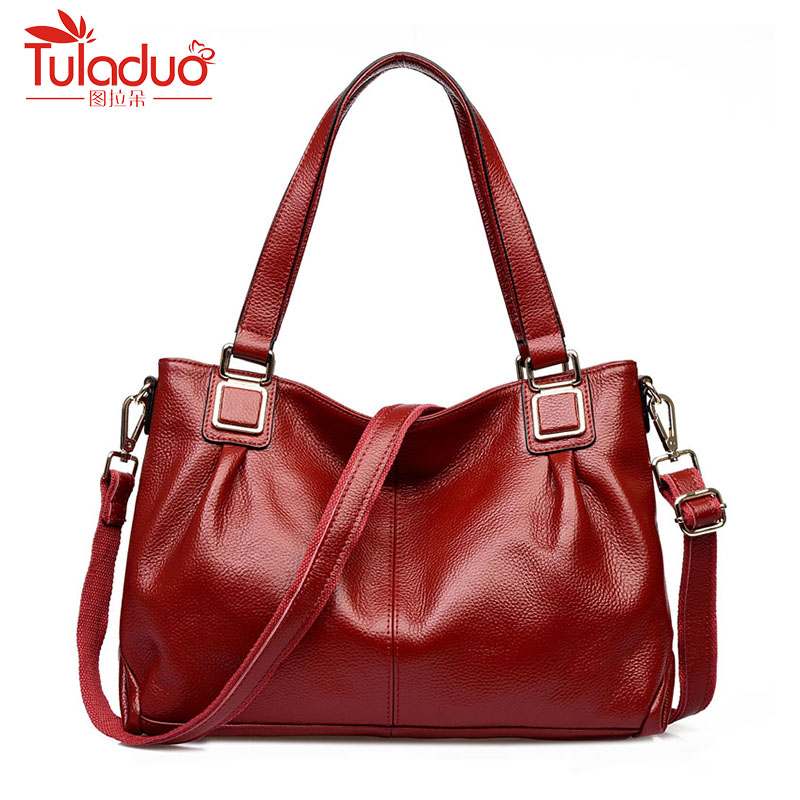 2018 New Fashion Women Shoulder Bags High Quality Female Bag Large Capacity Genuine Leather Women Handbags Designer Women Bags fashion women genuine leather handbags large capacity tote bag oil wax leather shoulder bag crossbody bags for women