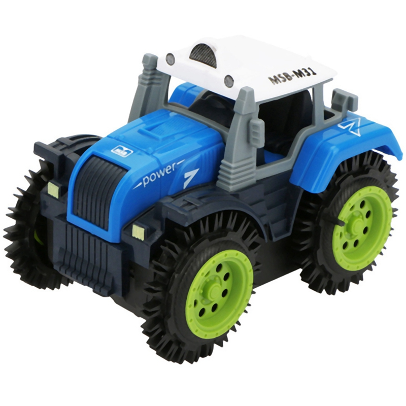 Children Flip Toy Car Electric Stunt Farmer Car Child Dump Truck Simulation 4 Wheel Drive Electric Toy Car
