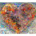 Michelangelo Wooden Jigsaw Puzzles 500 Pieces The Mix of Love Heart Art Educational Toy Decorative Painting DIY Gift Home Decor