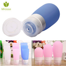 Mrosaa 60ml/80ml 3 Color Portable Empty Silicone Travel Box Liquid Lotion Shampoo Bottles Bath Shower Container Bathroom Product
