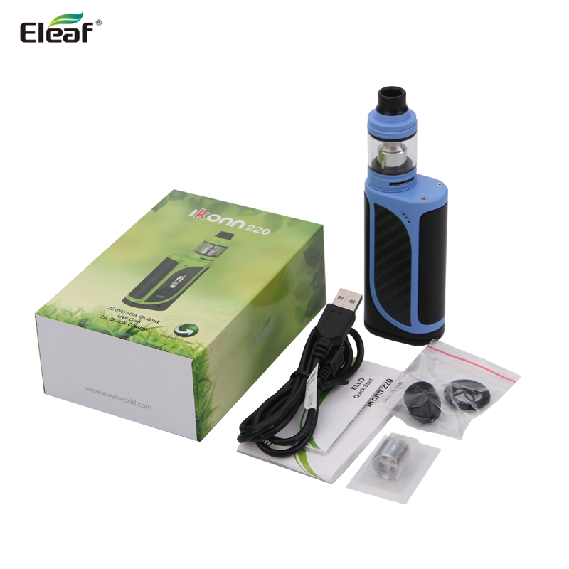 Original Eleaf iKonn 220 Kit With iKonn 220 VW TC Box Mod Vape and ELLO Atomizer 2ml /4ML Fit HW3/HW4 Coil Head E Cigarettes Kit original eleaf invoke 220w with ello t tc kit with 2ml ello t tank extendable to 4ml