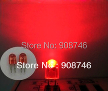 Free Shipping 5mm Red color DIP 546 Oval leds high brightness 500-600mcd for led panel display module 1000pcs/lot