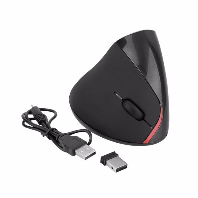 Optical Laser Technology Precise Control Wireless Ergonomic Vertical Optical 1600 DPI USB Mouse 5D Optical Mouse For PC Laptop
