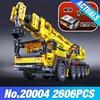LEPIN 20004 2606Pcs Technic Motor Power Mobile Crane Mk II Model Building Kits Minifigure Blocks Toy