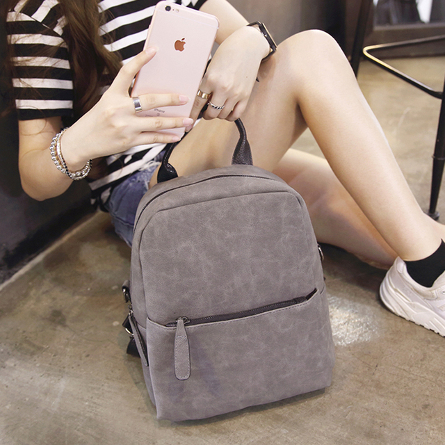 2017The new shoulder bag female Korean wild fashion PU backpack girls institute wind female bag ladies bag tide