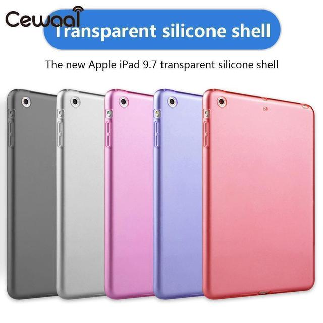 Ultra-Thin Anti-Fingerprint Sleeve Anti-Scratch Shockproof Silicone Tablet Case Tablet All-Round Protector TPU for iPad 9.7""