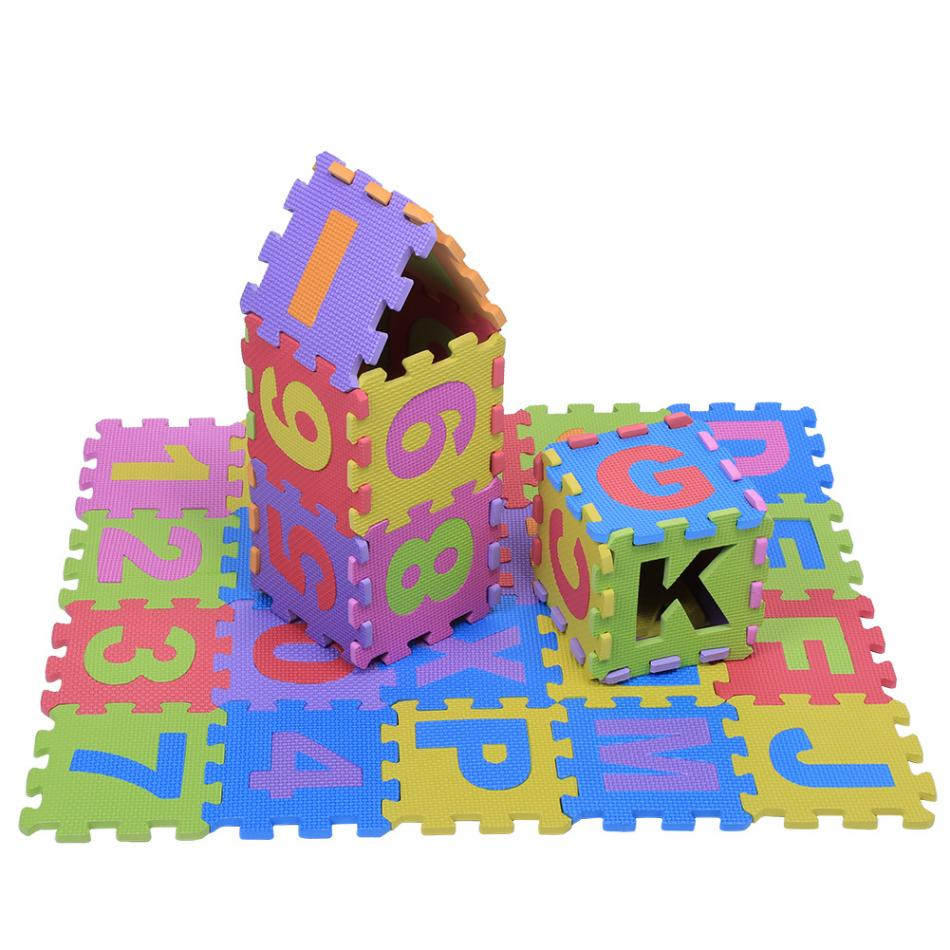 36Pcs/Set EVA Foam Mat Baby Soft EVA Foam Play Mat Numbers & Letters Playing Crawling Pad Toys for Children Kids Carpet Puzzle ...