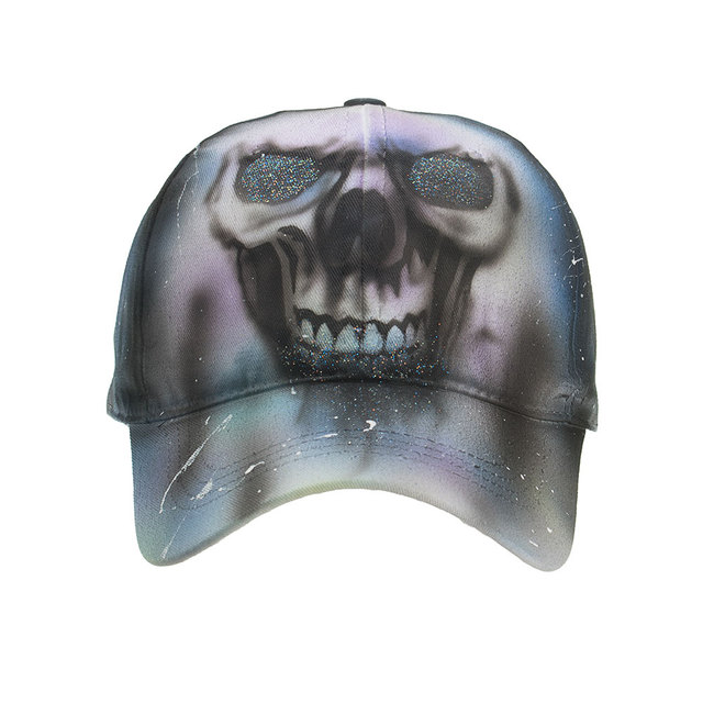 SKULL PAINTING BASEBALL CAPS