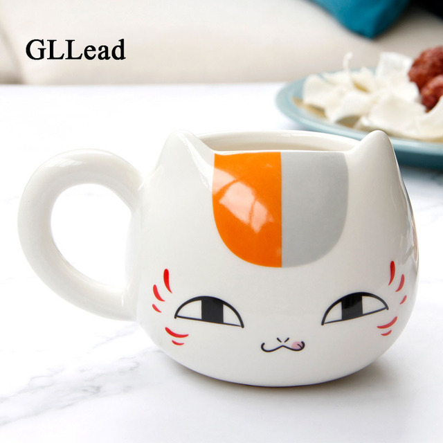 Gllead Creative Cat Mug Coffee Milk Tea Cup And Mugs Cute Cartoon Ceramic Animal Novelty