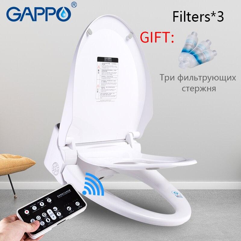 GAPPO Toilet Seats toilet warm seat cover Elongated Electric toilet seat cover Washlet warm smart toilet seat