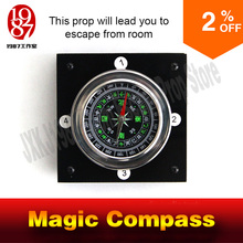 magic compass adventurer escape room game device prop forTakagism get hidden clues via compass to run