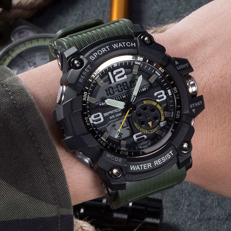 2017 sanda military watch men waterproof sport watch for mens top brand quality ebay for Watches for men
