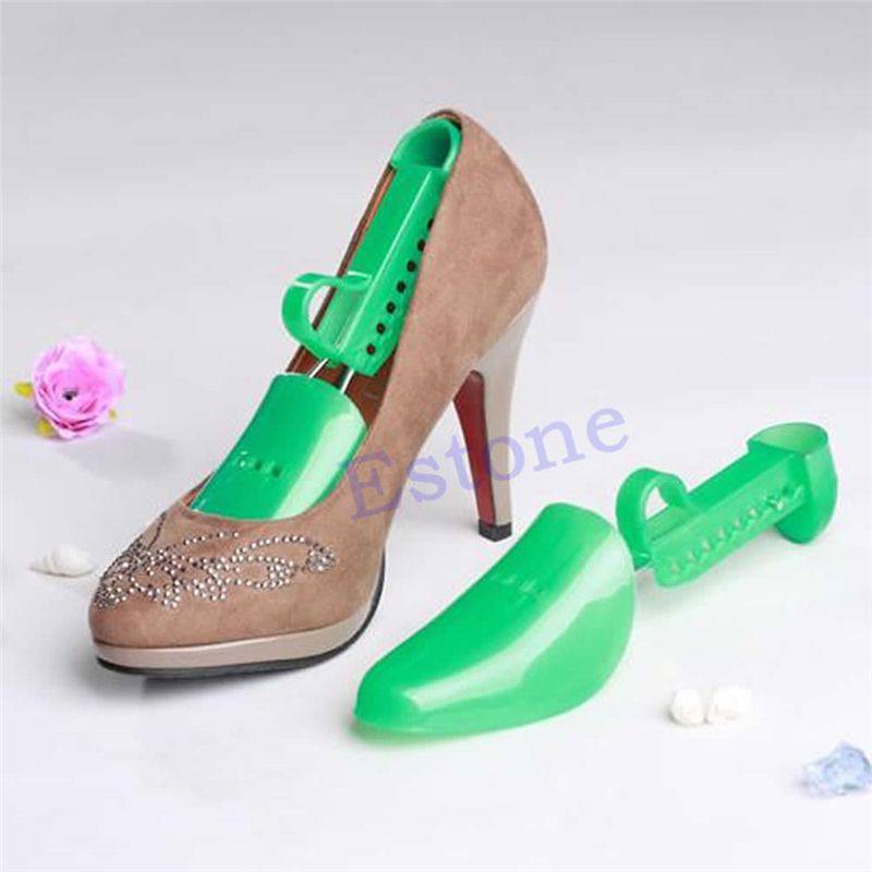 Random Color New Fashion High Quality 1 Pair Plastic Adjustable Women Shoes Tree Keepers Support Stretcher Shoe Shapers Solid women plastic spring shoe tree stretcher holder shaper support