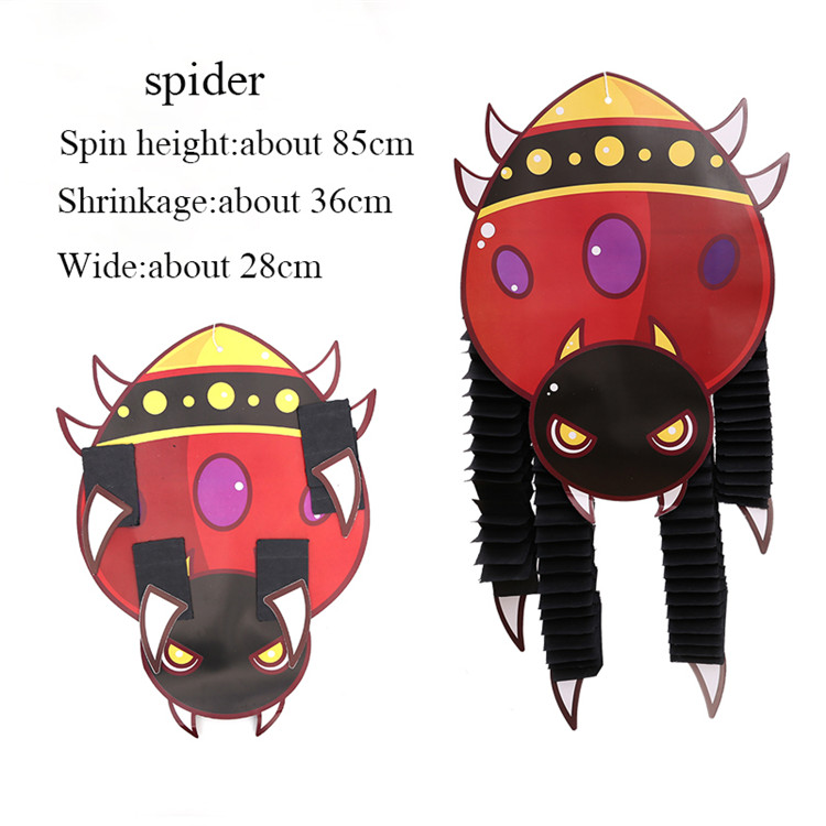 Zilue 1 шт. Хэллоуин выставка декораций реквизит Скелет Вампира бумага висячие вечерние принадлежности для представления украшение для ночных клубов - Цвет: spider