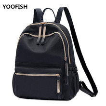 YOOFISH Backpack Women Pu Leather Female Backpacks Teenager School Bags Mochila Feminina Rucksack Waterproof Travel Backpack brand preppy style kanken school backpacks rucksack women leather backpack lady travel bag mochila feminina