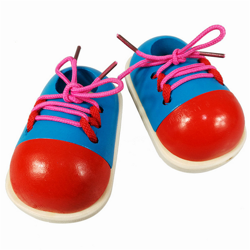 MY09 For Wooden Toys Baby School Shoelaces Education Toy AR Toy Y925