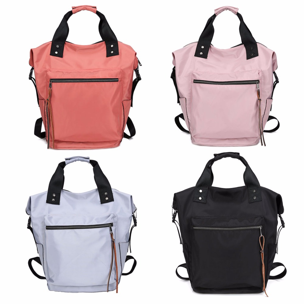 Women Leather Backpacks For Teenage Girls Shoulder Bag Book Bags Female Student School Bag Nylon Rucksack 2018 THINKTHENDO tegaote new design women backpack bags fashion mini bag with monkey chain nylon school bag for teenage girls women shoulder bags