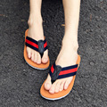 DreamShining  Fashion Breathable Stripe Slippers Summer Shoes EVA  Flip Flops Beach Slippers Best Quality