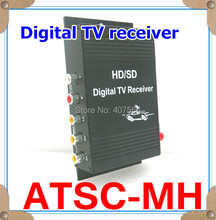 High Quality !! New Car Digital TV Receiver  ATSC-M/H TV Box for USA with Antenna, free shipping