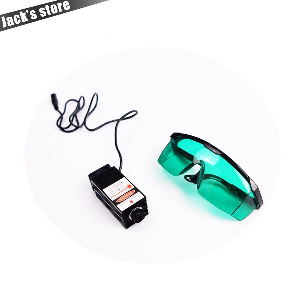 2.5 w Lumière Bleue Module Laser diode pour le tube Laser Machine de Gravure De haute puissance 2500 mw 450nm Focalisable Puissance approvisionnement