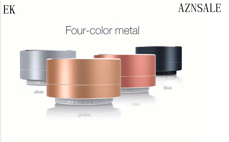 AZN A10 Wireless Bluetooth Portable Mini Audio Card Small Speaker Stereo Metal Mobile Subwoofer in Portable Speakers from Consumer Electronics