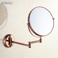 Xogolo 8 Two Sided Wall Mount Makeup Mirror 360 Degree Swivel Extendable Cosmetic Floding Easy Positioning
